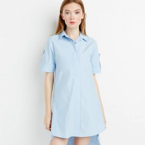 Button Wrap Shirt Dress