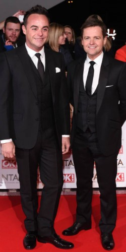 Ant And Dec at National Television Awards 2015