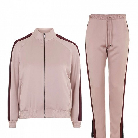 Stripe Detail Track Top and Jogger