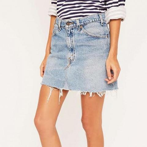 Vintage Re-Made Levis Denim Mini Skirt