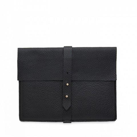 Leather iPad Sleeve, Black