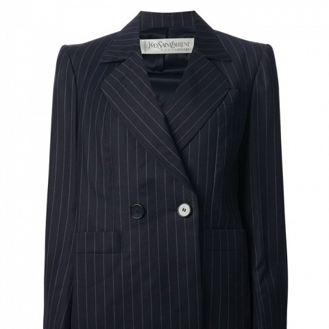Vintage Pinstripe Skirt Suit