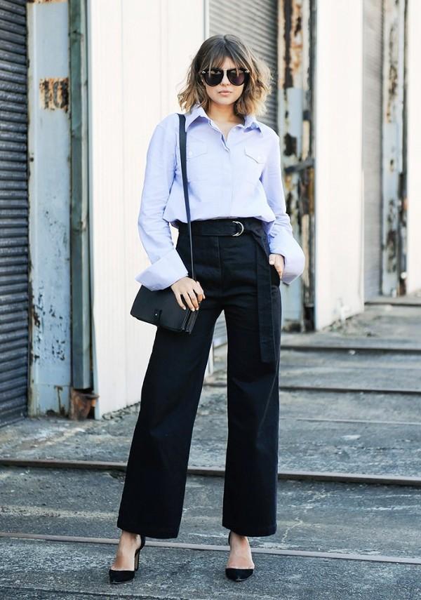 On Talisa Sutton: Anna Quan shirt; Dress Up jeans; IRO pumps; Karen Walker One Orbit Sunglasses ($300); Plus Equals bag.