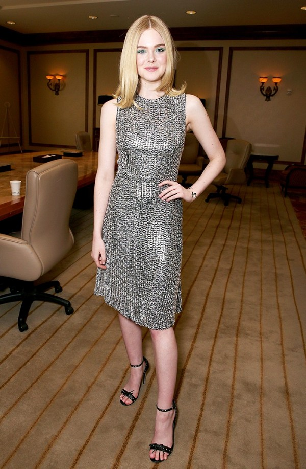 Who needs an LBD when there are Rodarte dresses like this in the world? Elle Fanning paired hers with a simple pair of ankle-strap sandals.