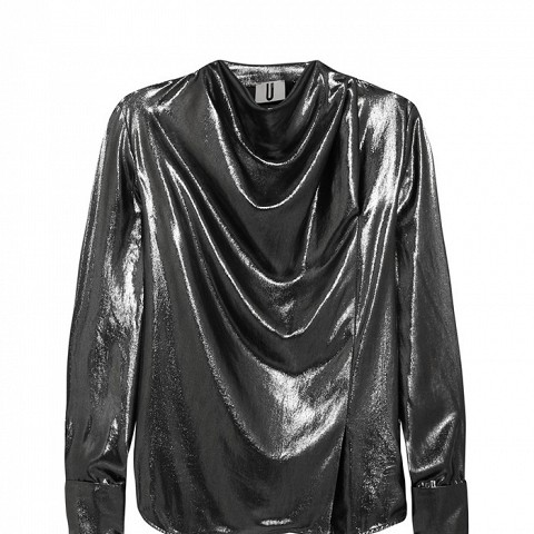 Livonia Draped Lame Blouse