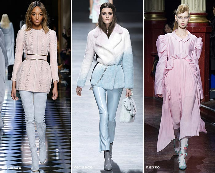 Fall trend of pastel colors