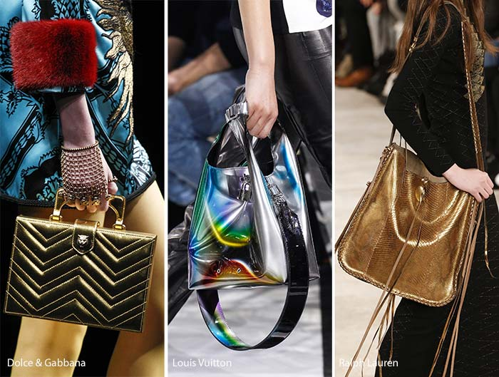 Fall Winter 2017 Handbag Trends Metallic Bags