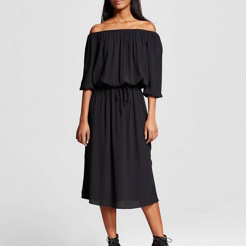 Woven Bardot Dress