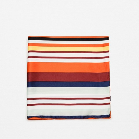 Multicolored Stripe Bandana Style Scarf