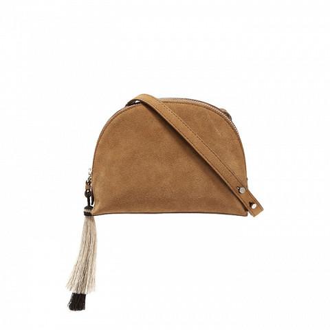 Tasseled Suede Shoulder Bag