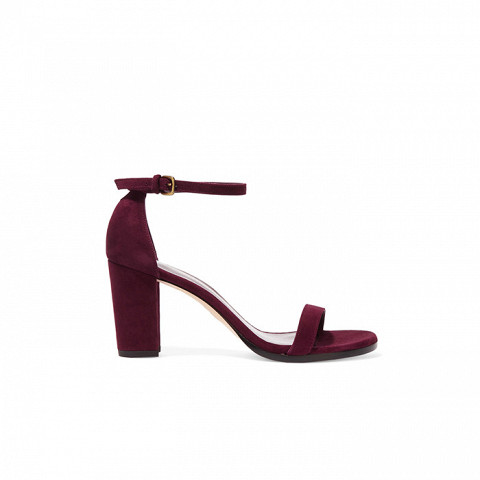 NearlyNude Suede Sandal