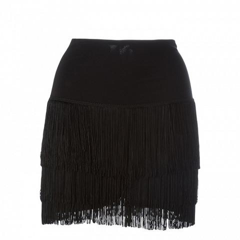 Short Fringed Skirt