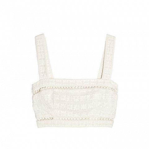 Sephyr Cropped Broderie Anglaise Cotton and Silk-Blend Top