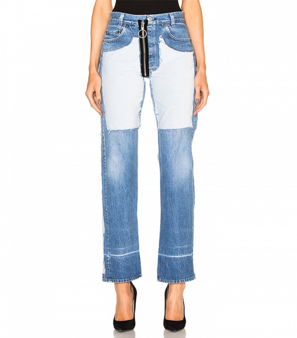 Off-White Inlay Velvet Patch Jeans