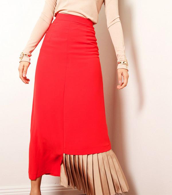 Heewan Half-Pleated Skirt