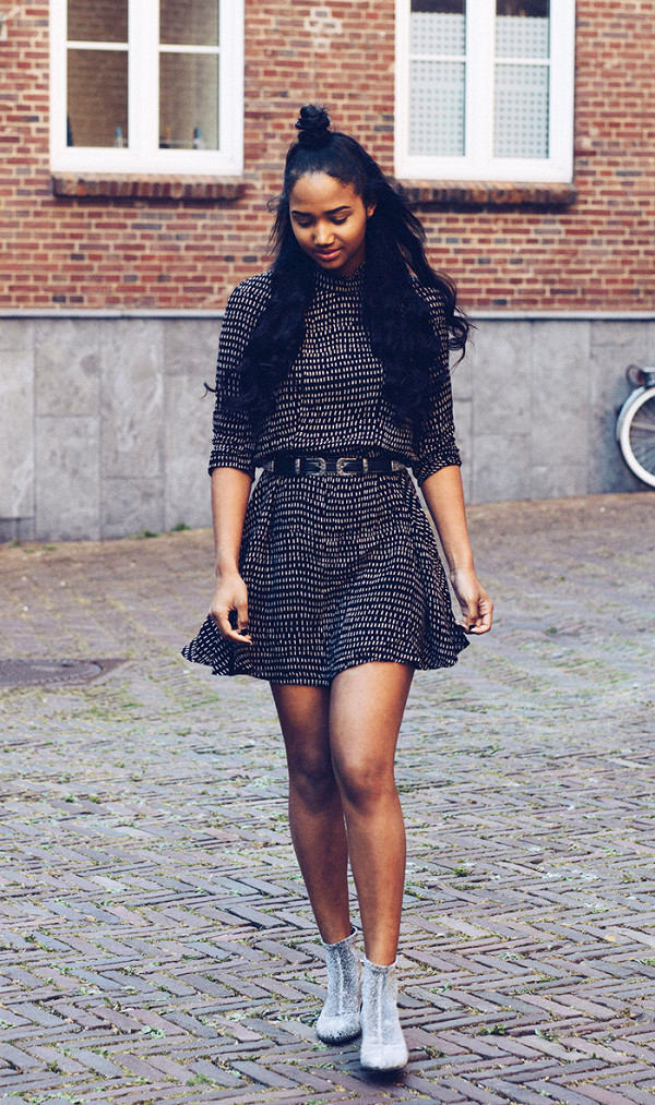 fall outfits street style glitter boots