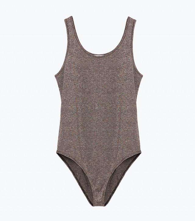 Zara Shiny Strap Bodysuit