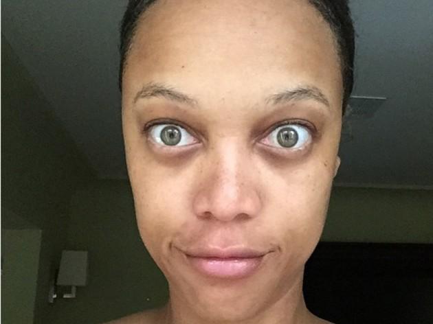 Tyra Banks No Make-up Selfie