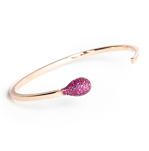 Braceelt Match-ed de Nadine Ghosn en or rose et rubis