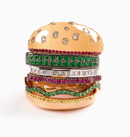 Bague burger Ring de Nadine Ghosn