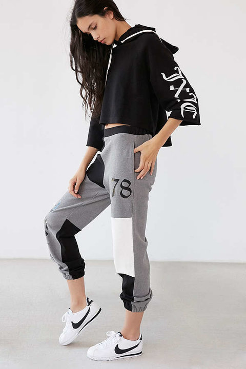 High-Rise Color Block Sweatpant