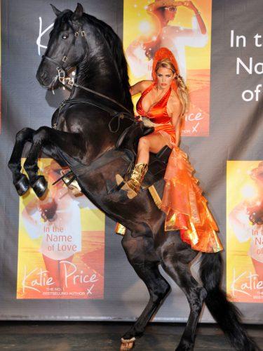 10. Katie Price the stallion tamer…