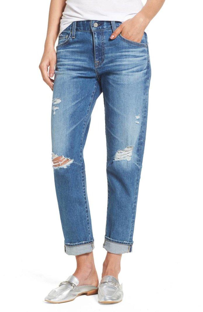 AG Ex-Boyfriend Crop Slim Jeans