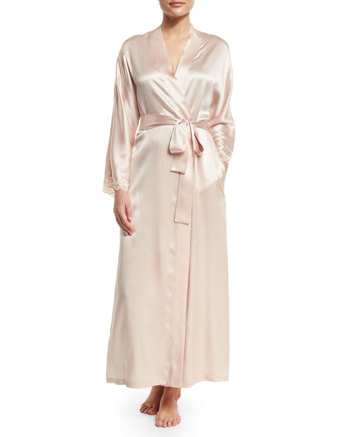 Christine Designs Bijoux Long Silk Robe
