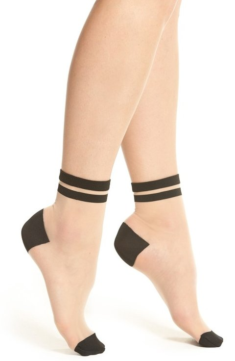 Pleated intarsia-knit mini skirt