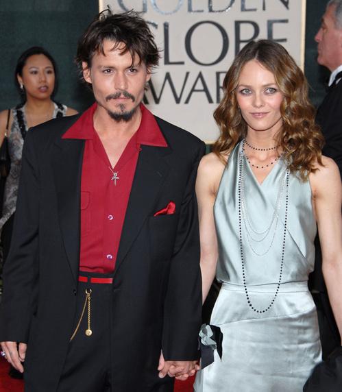 Johnny Depp et Vanessa Paradis à la 63ème cérémonie des Golden Globes