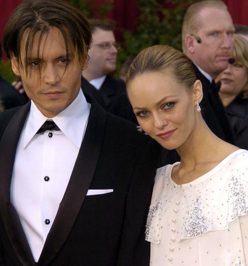 Johnny Depp et Vanessa Paradis à la 76ème cérémonie des Oscars
