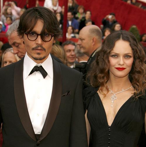 Johnny Depp et Vanessa Paradis à la 80ème cérémonie des Oscars