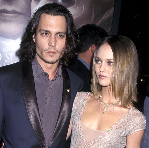 Johnny Depp et Vanessa Paradis lors de la première de Sleepy Hollow en 1999