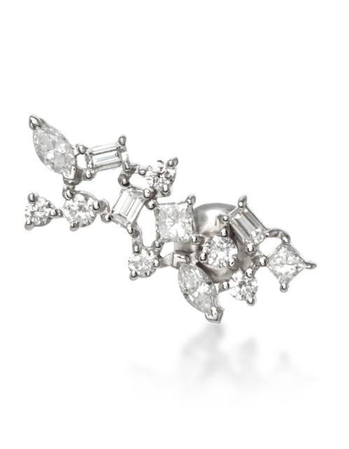 Boucle d'oreille Constellation de Nataf Joaillerie en or blanc et diamants