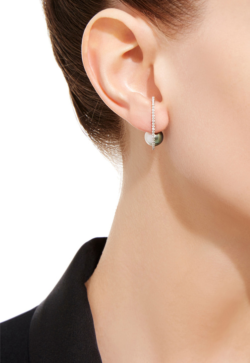 Boucle d'oreille Infinity Pearl