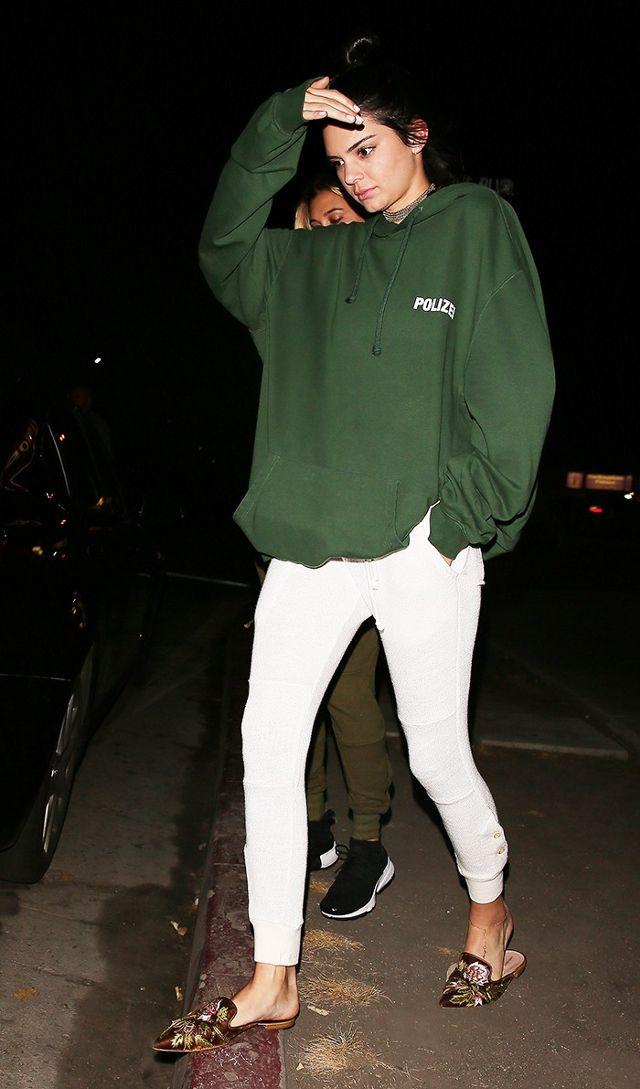 Kendall Jenner Vetements Polizei Hoodie