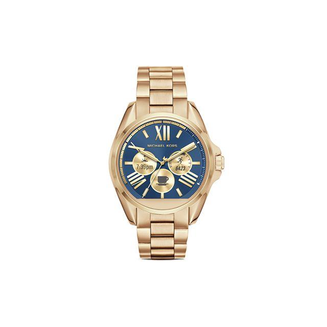 Michael Kors Access Unisex Digital Bradshaw Gold-Tone Stainless Steel Bracelet Smartwatch