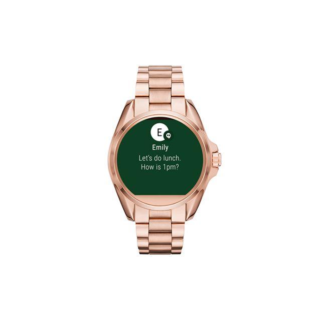 Michael Kors Access Unisex Digital Bradshaw Rose Gold-Tone Stainless Steel Bracelet Smart Watch