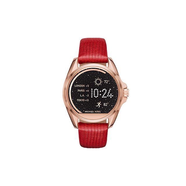Michael Kors Access Women's Bradshaw Red Lizard Embossed Leather Smartwatch Strap