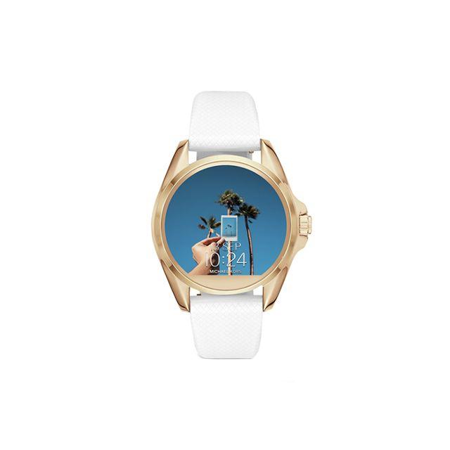 Michael Kors Access Women's Bradshaw White Silicone Smartwatch Strap