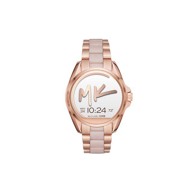 Michael Kors Women's Access Bradshaw Digital Rose Gold-Tone Stainless Steel and Blush Acetate Bracelet Smart Watch
