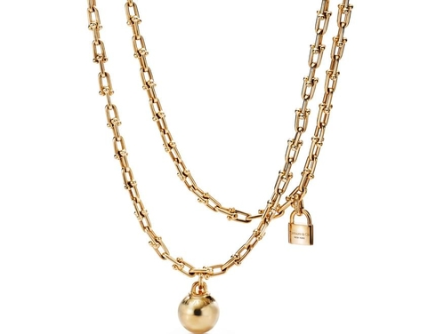 4051712c3 Yellow gold double chain necklace, Tiffany City HardWear, Tiffany & Co.,  price on request.